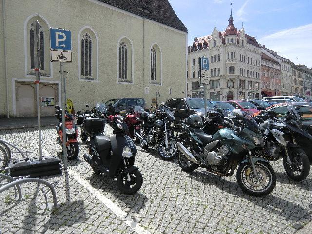 Motorradparkplatz Görlitz Obermarkt