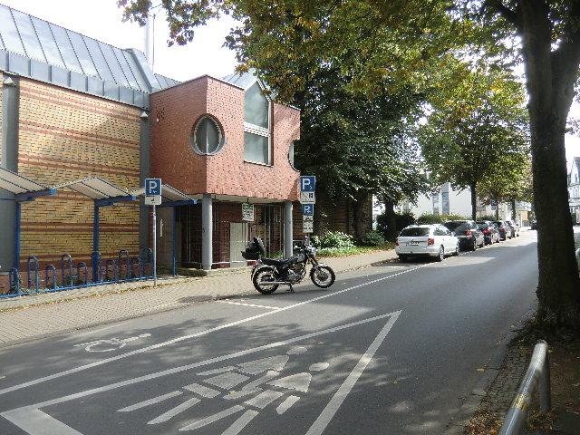 Motorradparkplatz Unna am Kino
